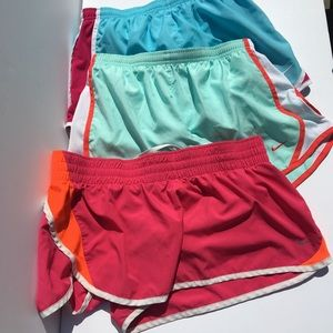 Lot of 3 Nike Dri-Fit Bright Running Shorts Pink